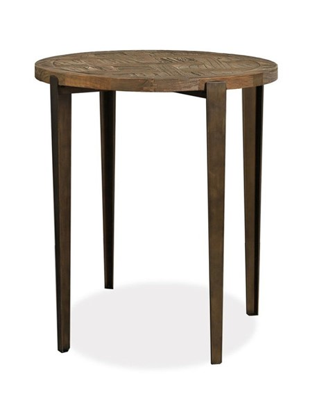 Primitive Collections Bespoke Wood Round End Table PMT-PCYKFV0200110
