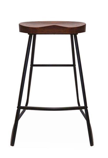 2 Primitive Collections Ranch Black Metal Red Wood Bar Stools PMT-PCLR906510
