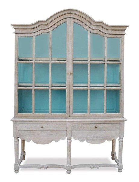 Primitive Collections Robins Nest Teal Cabinet PMT-PCF004BLUE10