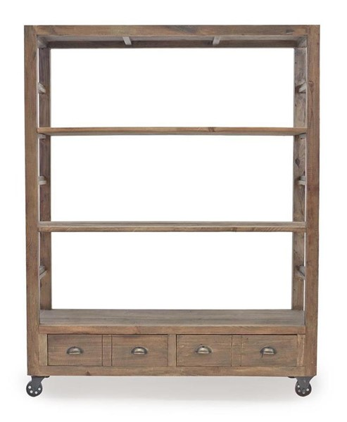 Primitive Collections Rostock Reclaimed Wood 2 Drawers Bookshelf PMT-PC20130303010