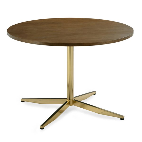 Poly and Bark Geneva Brass 43 Inch Round Dining Tables PNB-PB-DI-501-DT-VAR