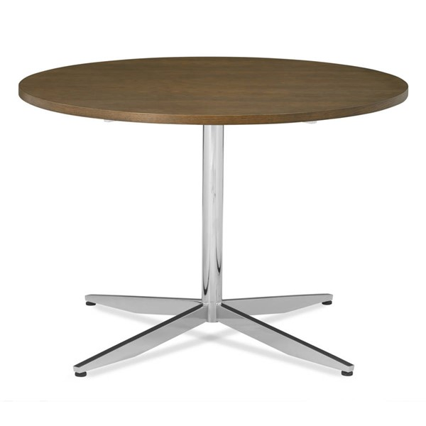 Poly and Bark Geneva Chrome 43 Inch Round Dining Table PNB-PB-DI-501-CRM