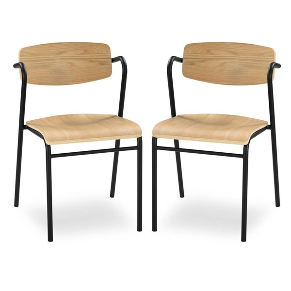 2 Poly and Bark Everly Natural Dining Chairs PNB-PB-DI-505-NAT-X2