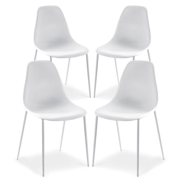 Poly and Bark Isla White Dining Chairs PNB-PB-DI-516-DR-CH-VAR