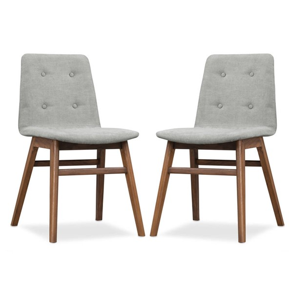 2 Poly and Bark Gstaad Grey Dining Chair PNB-PB-DI-546-GYWL-X2