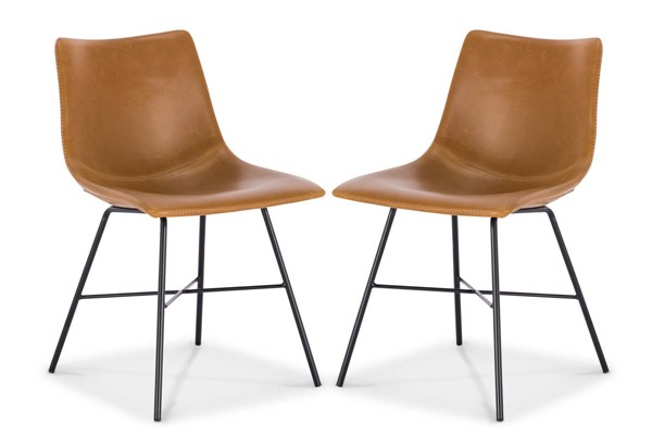 2 Poly and Bark Paxton Tan Dining Chairs PNB-PB-DI-C457-03-X2