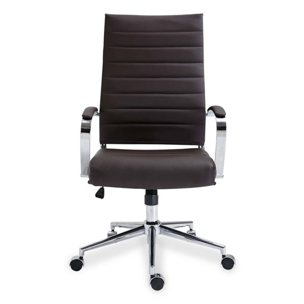 Poly and Bark Tremaine Brown High Back Management Chair PNB-PB-290-BRN