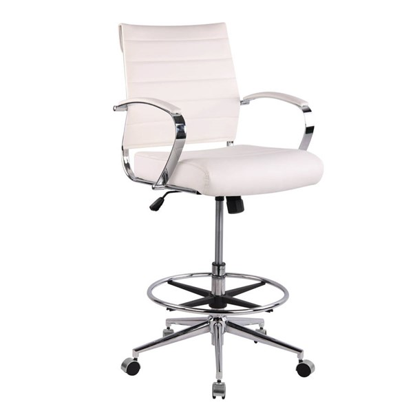 Poly and Bark Tremaine White Drafting Chair PNB-PB-294-WHI