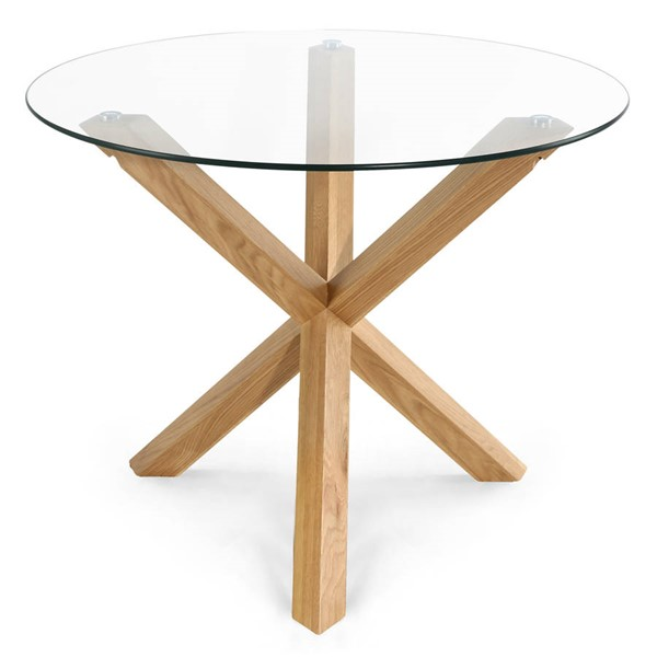Poly and Bark Kennedy Natural 37.4 Inch Round Dining Table PNB-PB-338-NAT