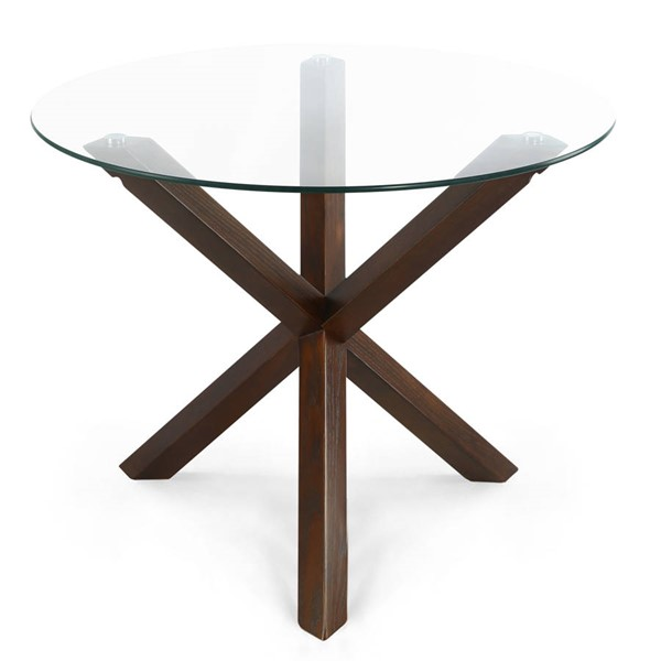Poly and Bark Kennedy Walnut 37.4 Inch Round Dining Table PNB-PB-338-WAL