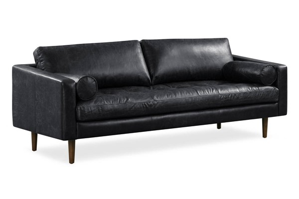 Poly and Bark Napa Onyx Black Sofa PNB-PB-388-BLK