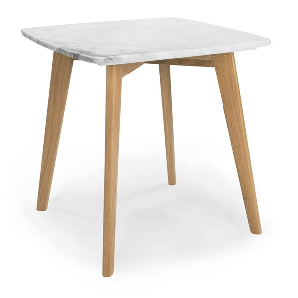 Poly and Bark Riley Natural Marble Top Square End Tables PNB-PB-494-ET-VAR