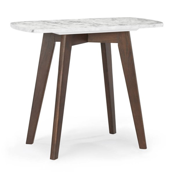 Poly and Bark Riley Walnut Marble Top Rectangle End Table PNB-PB-LR-491-WAL