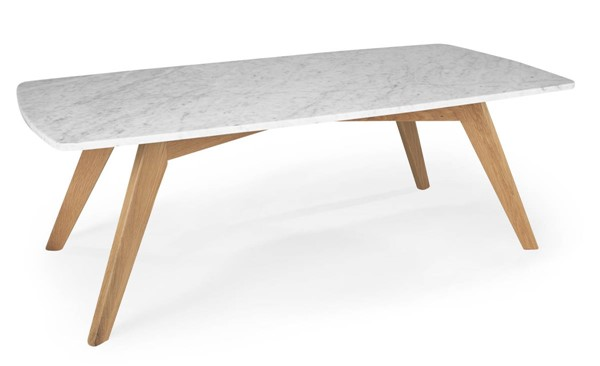 Poly and Bark Riley Natural Marble Top Rectangle Coffee Table PNB-PB-LR-492-NAT