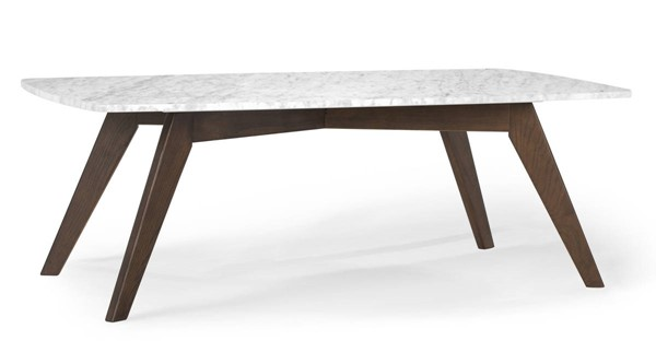 Poly and Bark Riley Walnut Marble Top Rectangle Coffee Table PNB-PB-LR-492-WAL