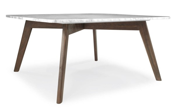 Poly and Bark Riley Walnut Marble Top Square Coffee Table PNB-PB-LR-495-WAL