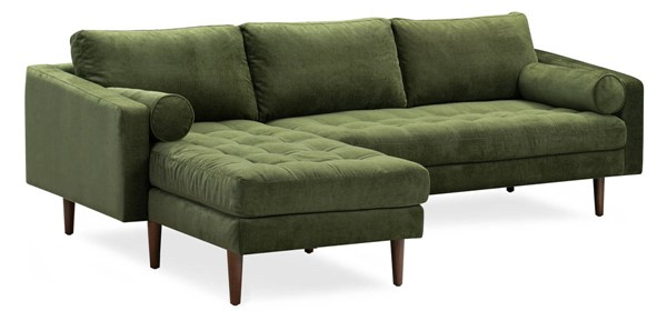 Poly and Bark Napa Distressed Green Velvet Left Sectional Sofa PNB-PB-LR-564-LS-3