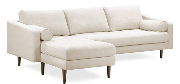 Poly and Bark Napa Twill Wheat Fabric Left Sectional Sofa PNB-PB-LR-564-LS-4