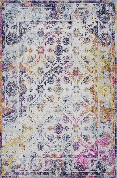 Poly and Bark Lorelai Distressed Area Rug (96 X 120) PNB-PB-R-112-0810-MUL