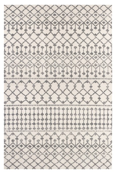 Poly and Bark Rabat Antique Ivory Geometric Lattice Area Rug (96 X 120) PNB-PB-R-125-0810-CRM