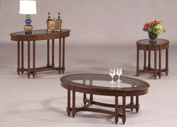 Canton Heights Traditional Berry Rubberwood Glass Coffee Table Set The Classy Home