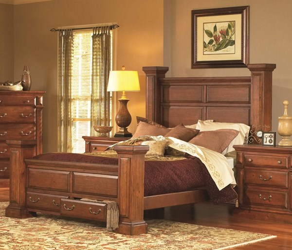 Torreon Rustic Antique Pine Wood Queen Rails PRG-61657-77