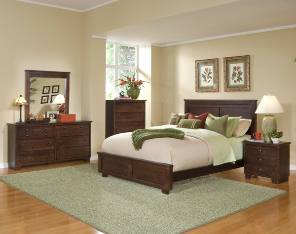 Diego Casual Espresso Pine Wood 2pc Bedroom Set W/King Bed PRG-61662-BR-S1