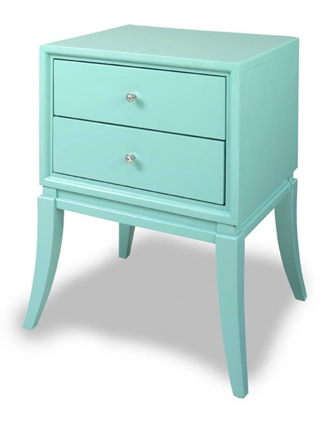 Cami Contemporary Robin Egg Blue MDF Wood Chairside Table PRG-A125-69