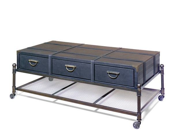 Progressive Furniture Dallas Bronze Cocktail Table with Casters PRG-A166-39