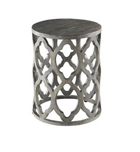Clara Contemporary Grey Solidwood Fabric End Table PRG-A178-68