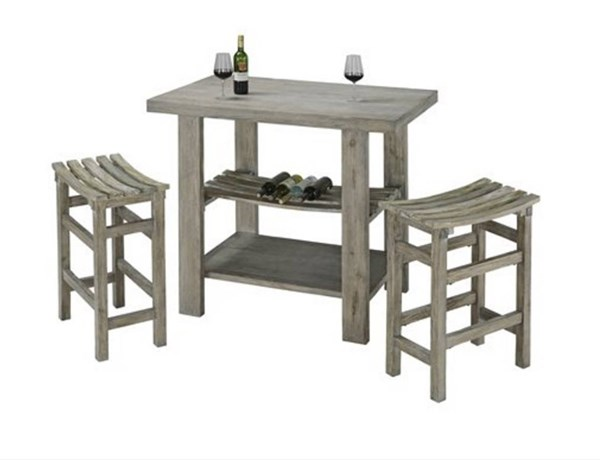 Cabernet Casual Grey MDF Footrest 3pc Counter Height / Bar Set PRG-A196-BAR-S