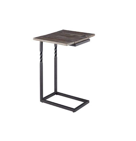 Gunner Casual Natural Black Wood Metal Lap Table PRG-A197-67