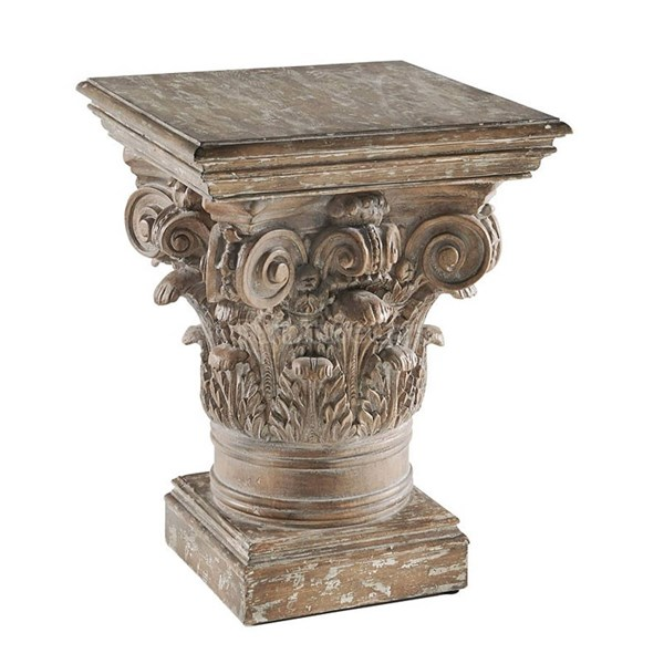 Apollo Traditional Coffee Resin MDF Ash Veneer Chair Side Table PRG-A199-68