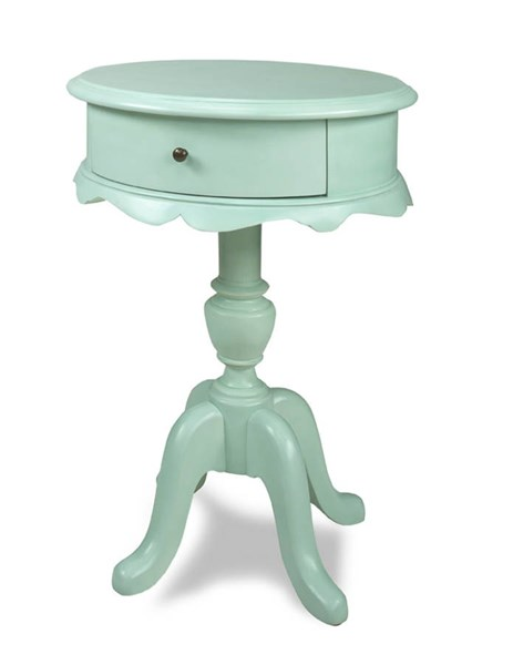 Molly Traditional Blue Caramel Wood MDF Chairside Table PRG-A402-69B