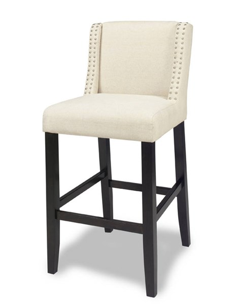 2 Gwyneth Contemporary Espresso Fabric Wood Upholstered Barstools PRG-A404-42