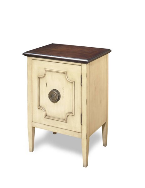 Morgan Traditional Ivory Tobacco Wood MDF Chairside Chest PRG-A414-69