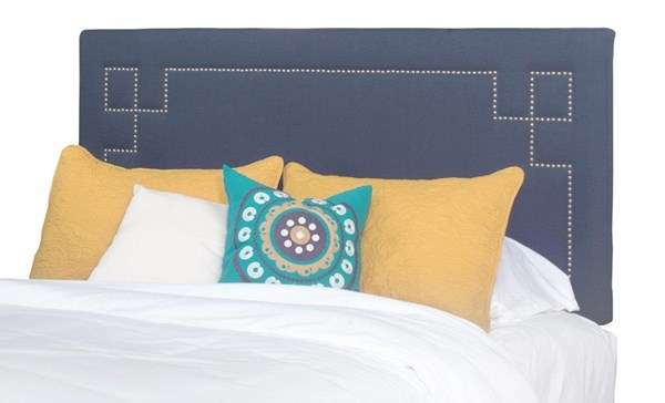Addison Cobalt Blue Fabric MDF Queen Upholstered Headboard Only PRG-A441-34