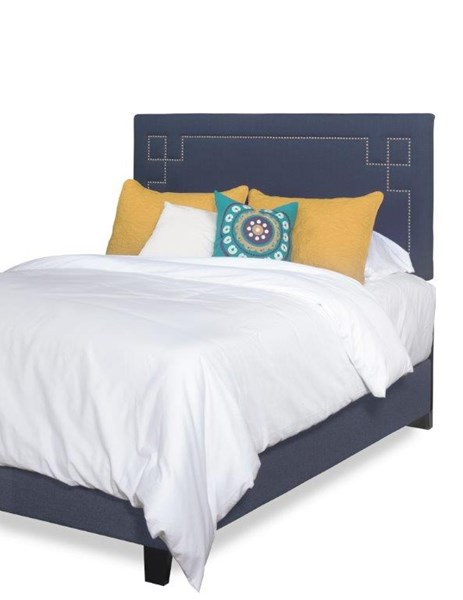 Addison Cobalt Blue Fabric MDF Queen Upholstered Bed PRG-A441-36