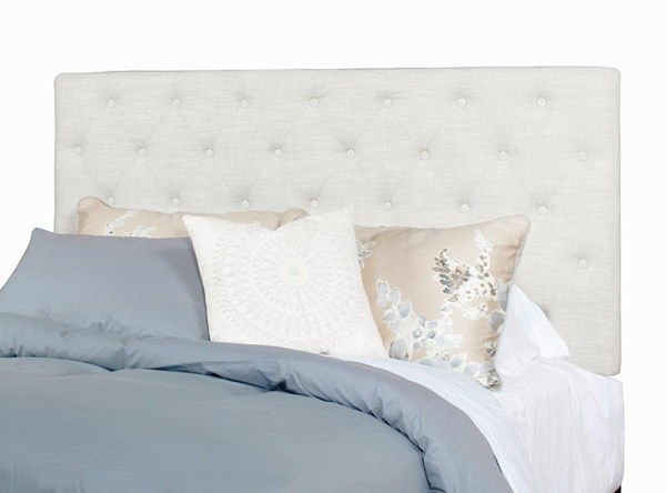 Tyler Ivory Fabric MDF Adult Twin Upholstered Tufted Headboard Only PRG-A442-30