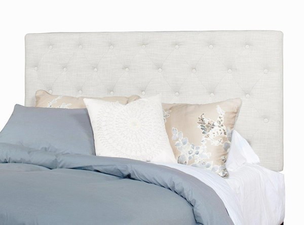 Tyler Ivory Fabric MDF Wood Queen Upholstered Tufted Headboards Only PRG-A442-HDBD-VAR