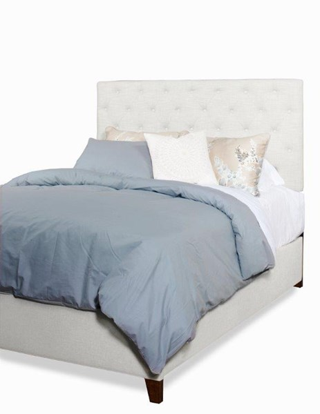 Tyler Traditional Ivory Fabric MDF Wood Queen Upholstered Tufted Beds PRG-A442-BED-VAR