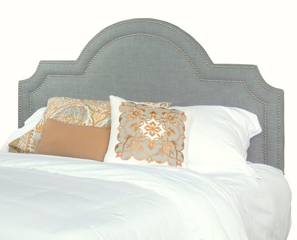 Georgia Fabric MDF Wood Queen Upholstered Scalloped Headboard Only PRG-A443-34