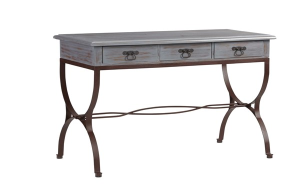 Progressive Furniture Piper Casual Rustic Blue Gray Desk PRG-A519-71