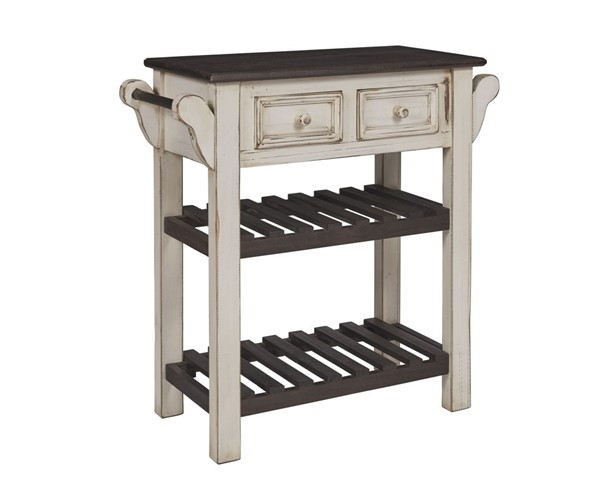 Progressive Furniture Madelyn Cream Solid Pine Console with Towel Bars PRG-A523-73A