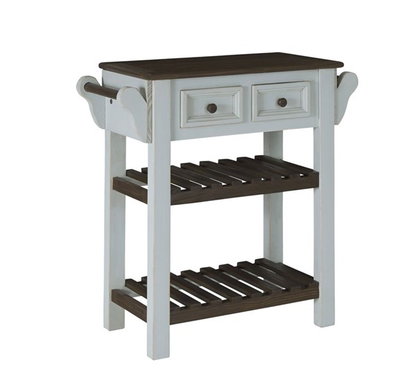 Progressive Furniture Madelyn Seafoam Solid Pine Console with Towel Bars PRG-A523-73B