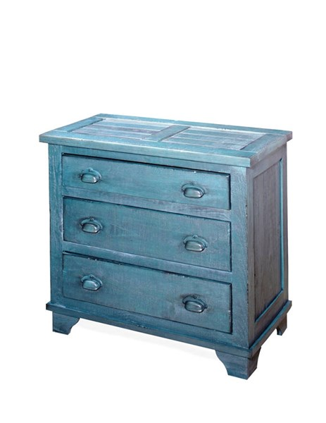 Camryn Casual Denim Blue Wood Industrial Chest PRG-A724-72D
