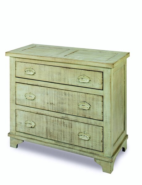 Camryn Casual Mint Green Wood Industrial Chest PRG-A724-72G