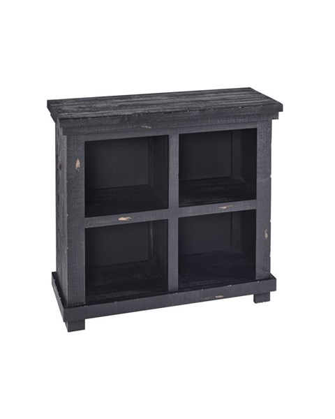 Willow Casual Black Wood Four Shelves Bookcase PRG-A728-32B