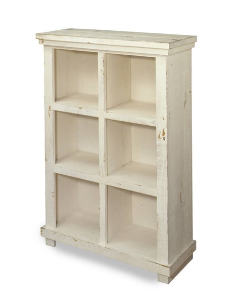 Willow Casual Distressed White Wood 48 Inch Height Bookcase PRG-A728-48W