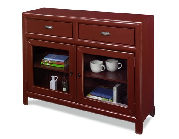 Shelby Casual Barn Red Wood Curio Cabinet PRG-A730-21R